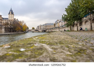 Embankment of the river Seine in Paris, France