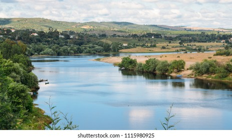 Embankment of River Tejo in Constancia, Portugal