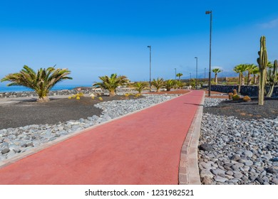 Embankment in the small village of Alcala.  Tenerife. Canary Islands.