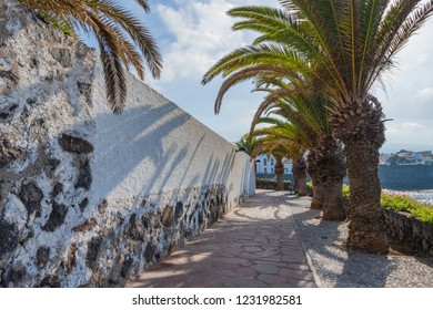 Embankment in the small village of Alcala.  Tenerife. Canary Islands.Spain