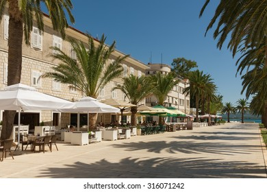Embankment of Tivat city. Montenegro