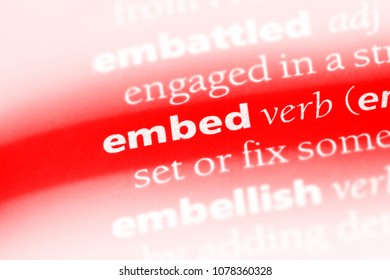 embed word in a dictionary. embed concept