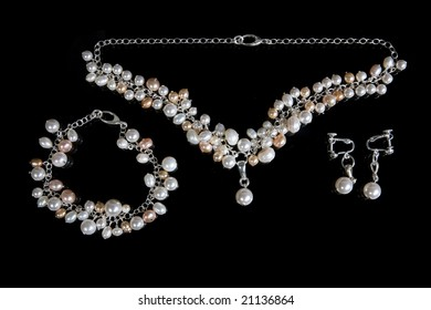 Embellishment from handmade pearl on black