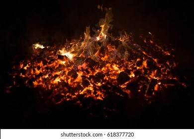 Embers fire fireplace grill fire flame, black background