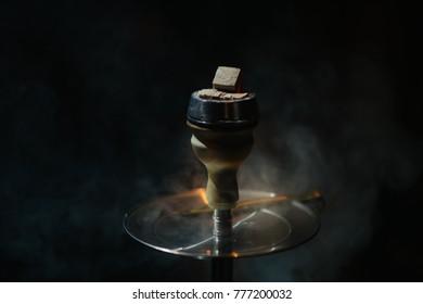 embers of hookah smoke and flames