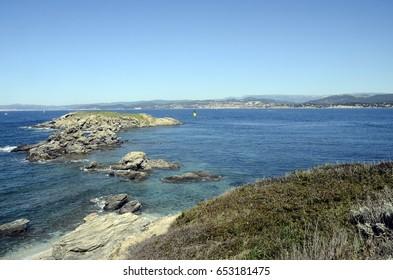 Embiez island landscape, near Bandol, french riviera and mediterranean sea, France