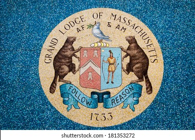 Emblem of Boston Masons grand lodge