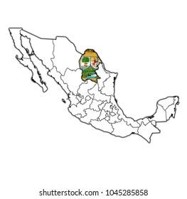 Emblem Baja California State On Map Stock Illustration 1045285888