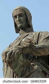 emblematic expression of Dante Alighieri in a fine bronze statue