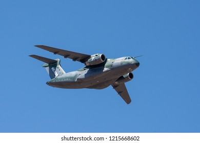 Embraer KC-390 during an air parade in the city of Brasilia, during the celebrations of the Independence Day of Brazil. 07 september 2018