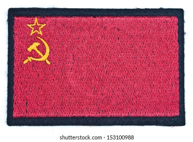 embroidered Russian flag