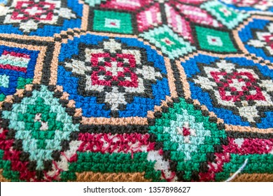 Embroidery with Bulgarian cross