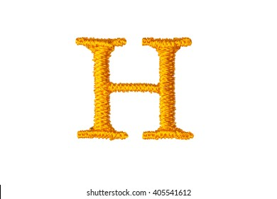 Embroidery Designs alphabet H isolate on white background