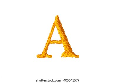 Embroidery Designs alphabet A isolate on white background