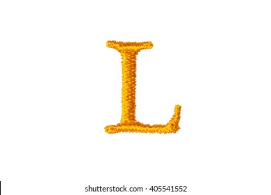 Embroidery Designs alphabet L isolate on white background