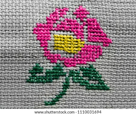 Embroidery Designs Handmade Thread Designs Hand Stock Photo Edit