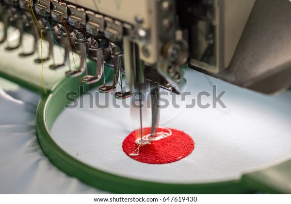 Embroidery Machine Needle Textile Industry Garment Stock Photo (Edit