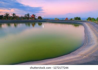 Embung Banjaroya Kulonprogo, Yogyakarta, Indonesia.