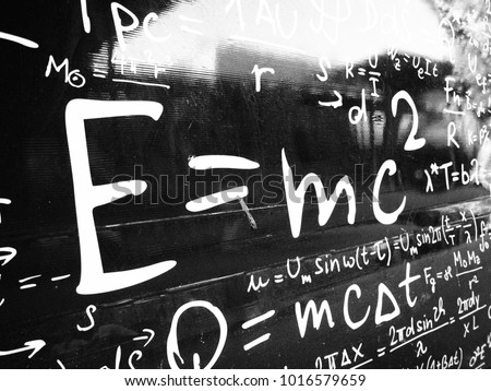 Emc2 formula on black