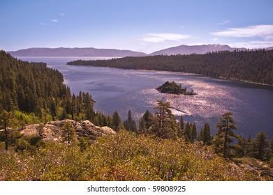 Emerald Bay at Lake Tahoe in California