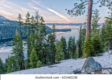 Emerald Bay at the Lake Tahoe on a beautiful Evening