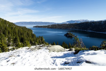 Emerald Bay in the winter, Lake Tahoe