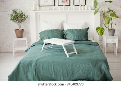 emerald bed linen