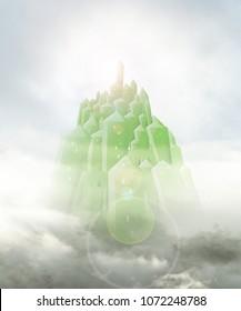emerald city close up