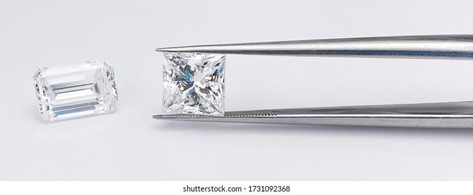 Emerald Cut and Princess Cut Diamonds Compared