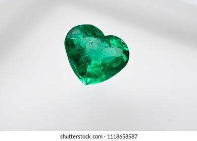 Emerald heart jewelry and gemstone