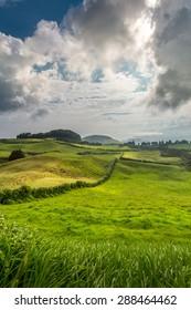 Emerald hills of Azores.
