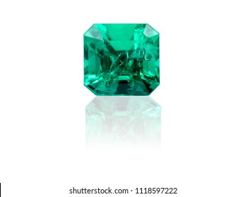 Emerald isolated on white background