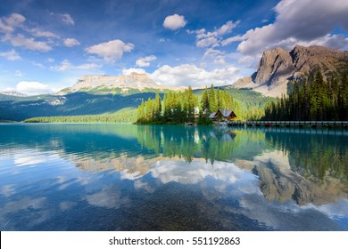 Emerald Lake in Banff National Park, British Columbia, Canada
