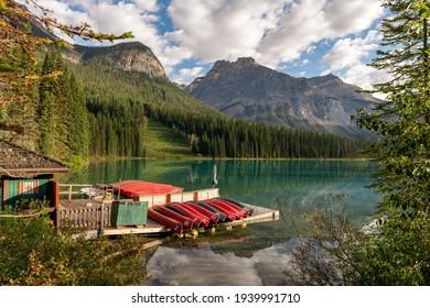 Emerald Lake Boat House - YOHO National Park - British Columbia - Canada