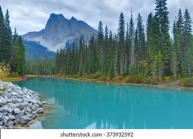 Emerald lake, Jasper National Park, Canada.