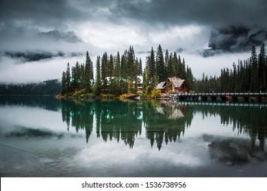 Emerald Lake Lodge BC in Fall/Autumn