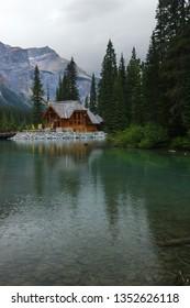Emerald lake lodge reception and cafe Yoho National Park, British Columbia, Canada - July 26, 2005
