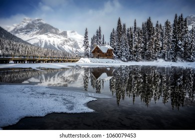 Emerald Lake lodge sitting tall through diverse Canadian winter weather