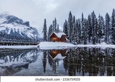 Emerald Lake Lodge in Winter