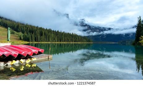 Emerald Lake, Yoho National Park, British Columbia, Canada.