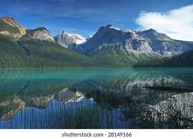 Emerald lake in Yoho national Park Canadian Rockies