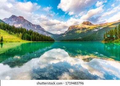 Emerald lake in Yoho Np, British Columbia, Canada