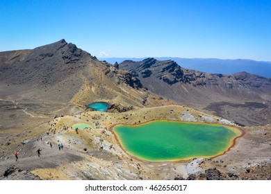 Emerald lakes, Tongariro crossing.Tongariro National Park, New Zealand.