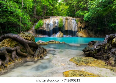 Emerald pool of the paradise, Waterfall