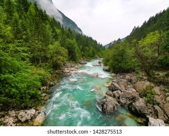 emerald soca river in slovenia