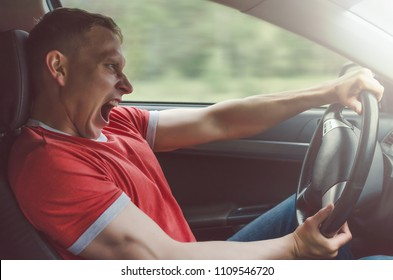 Emergency braking. Driver lost control of car. Dangerous maneuver on the road. Dangerous driving and speeding. Last second before a car crash concept.