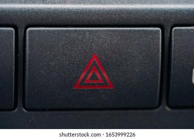 Emergency button in the car - Shutterstock ID 1653999226