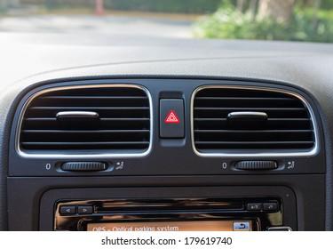 emergency button in car dashboard