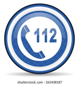 emergency call blue icon 112 call sign