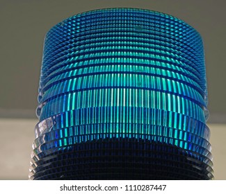 Emergency call box blue light